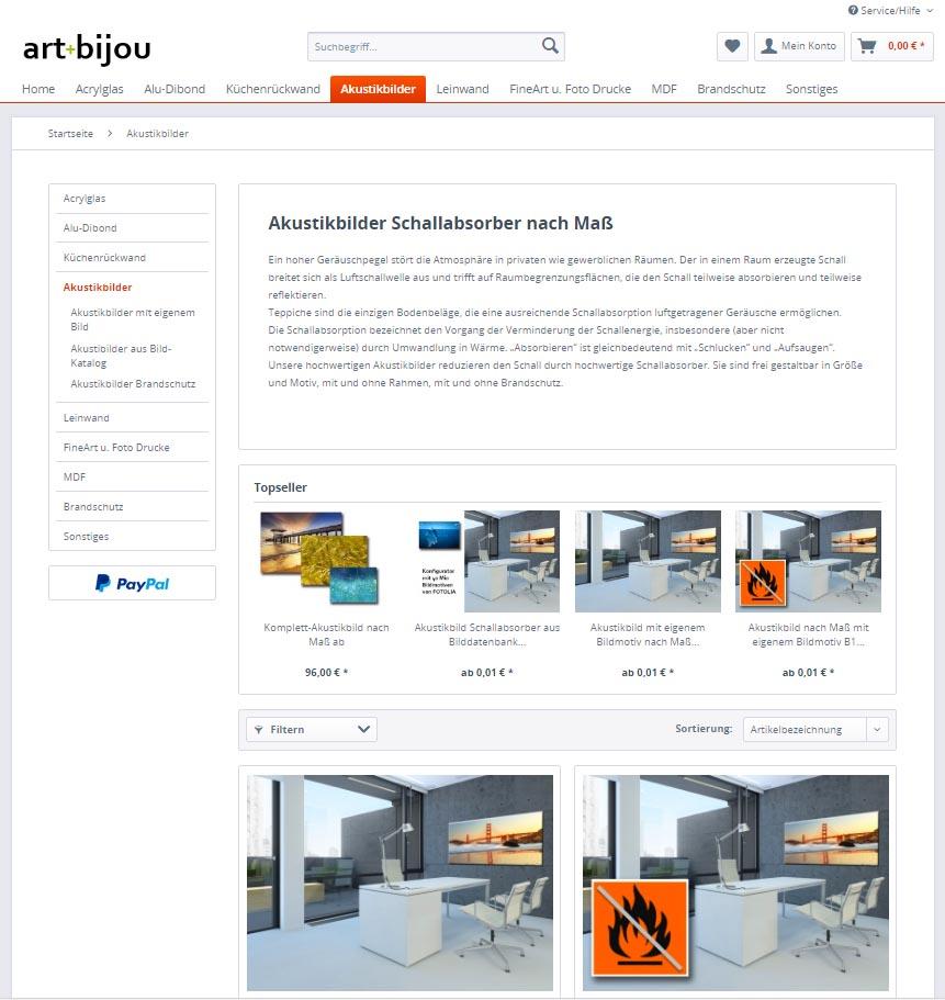 Akustikbilder Onlineshop